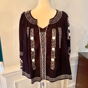 Free People size Small Black Comb Top New With Tag